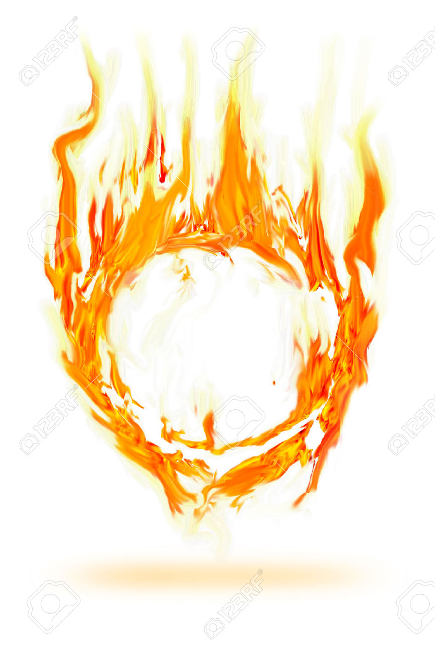 Fire abstract clipart.