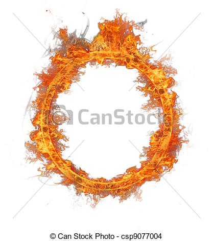 Drawing of Fire ring, isolated on white background csp9077004.