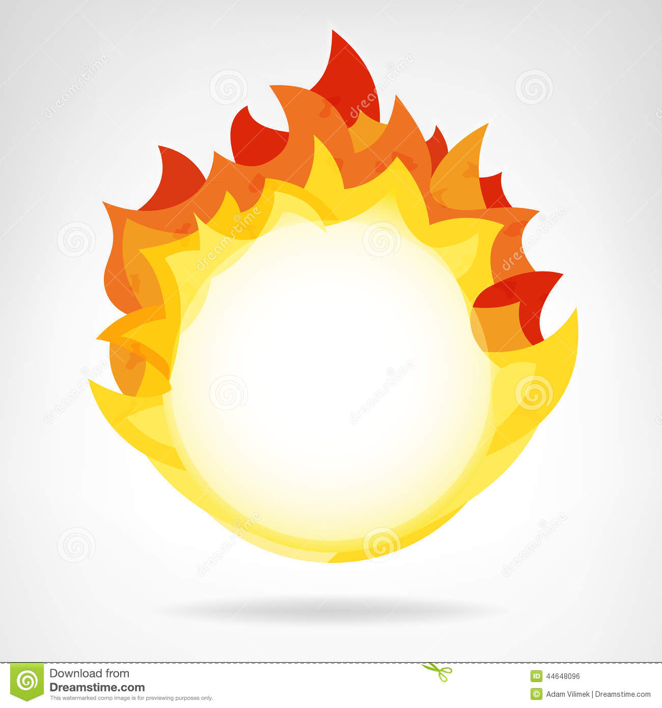 Circle of fire clipart.