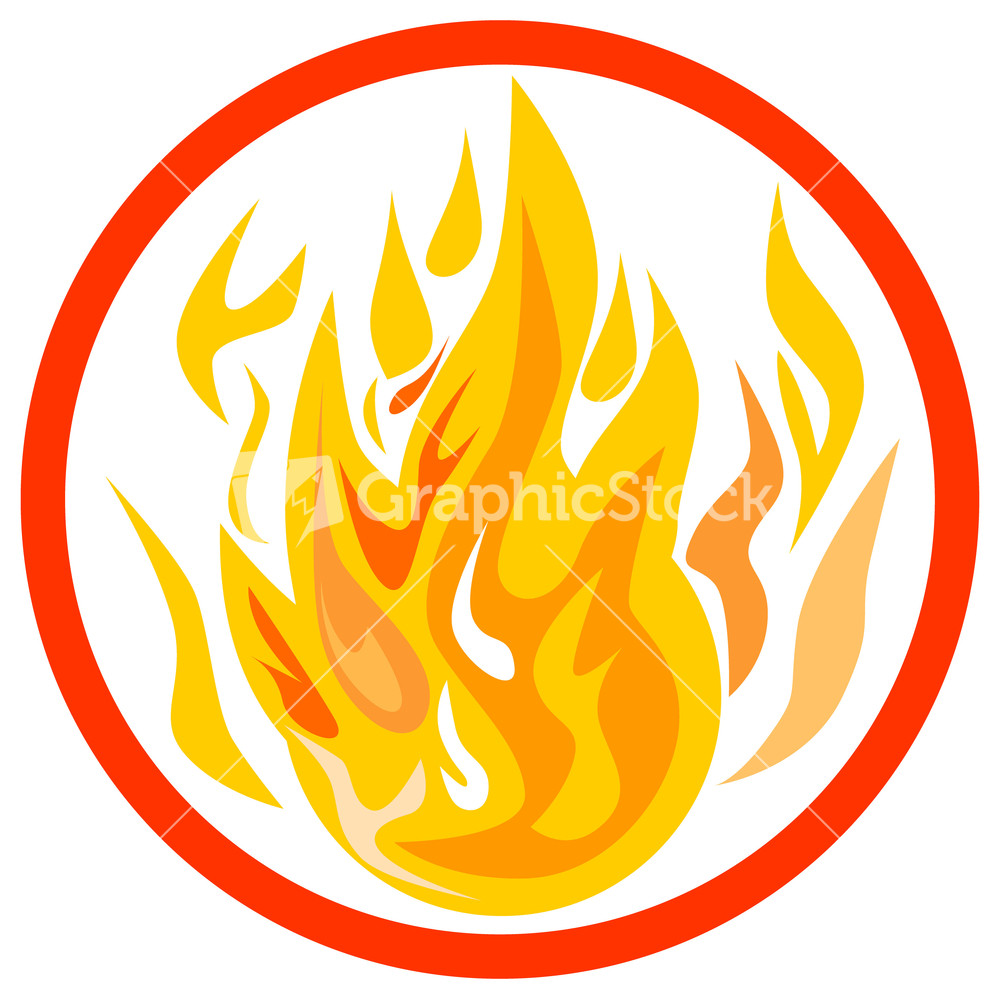 Fire Inside Circle.