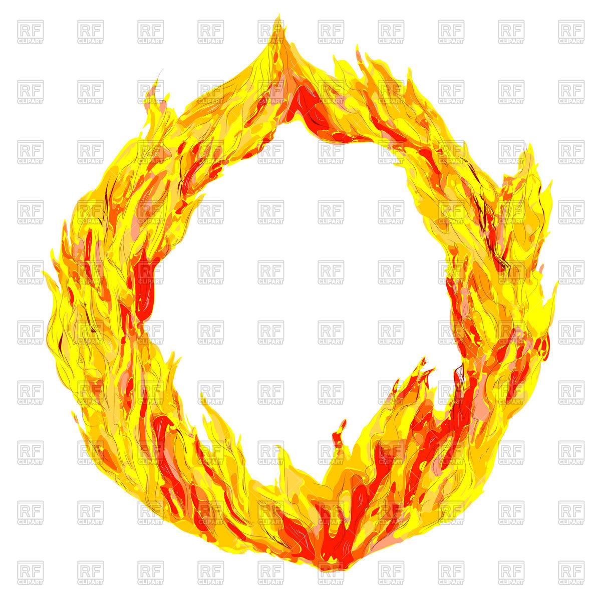 Fire circle clipart #6