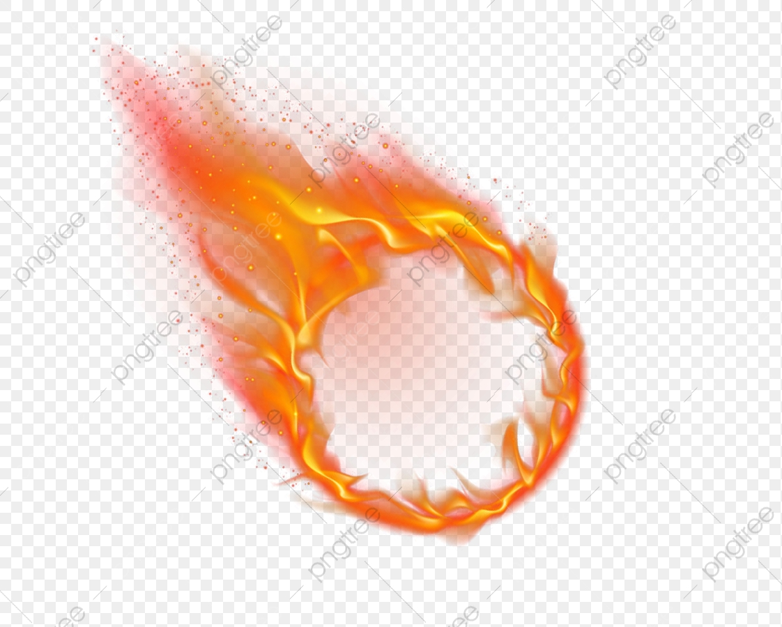 Fire Circle, Circle Clipart, Circles, Effect PNG Transparent Image.