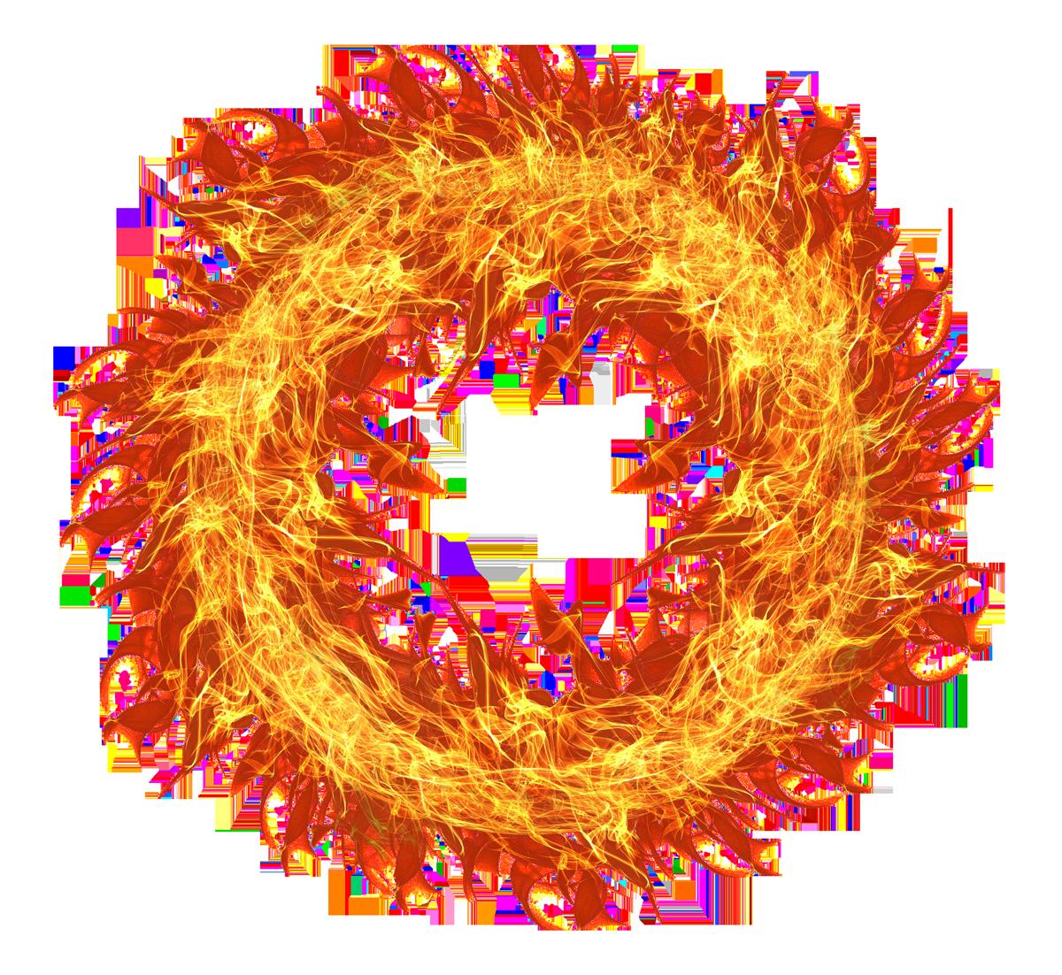 Fire Flame Circle Transparent PNG Image.