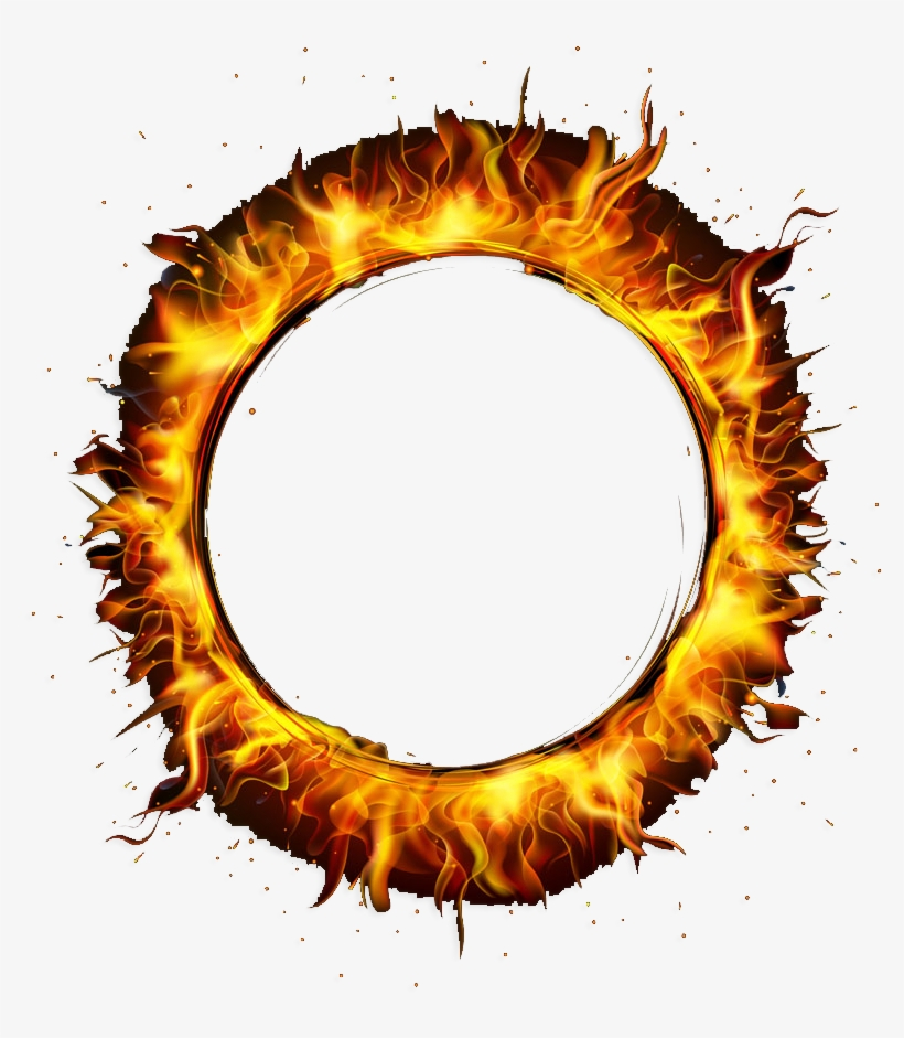 Circle Fire Png Banner Library Stock.