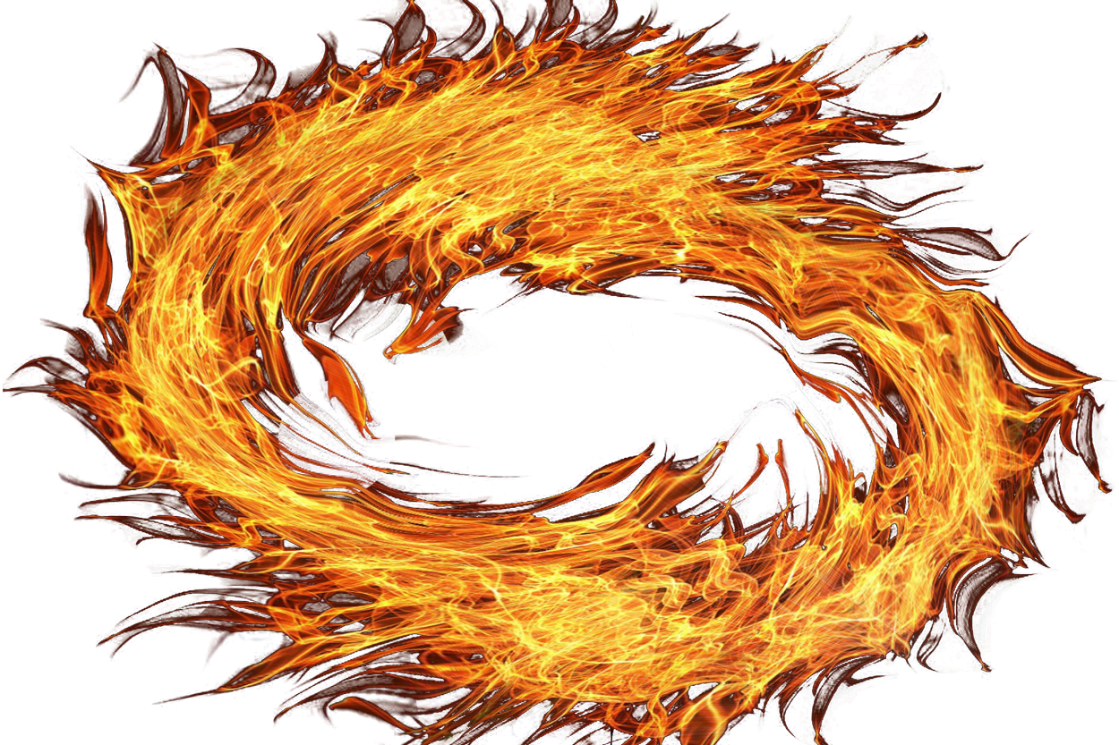 Fire Circle PNG Image.