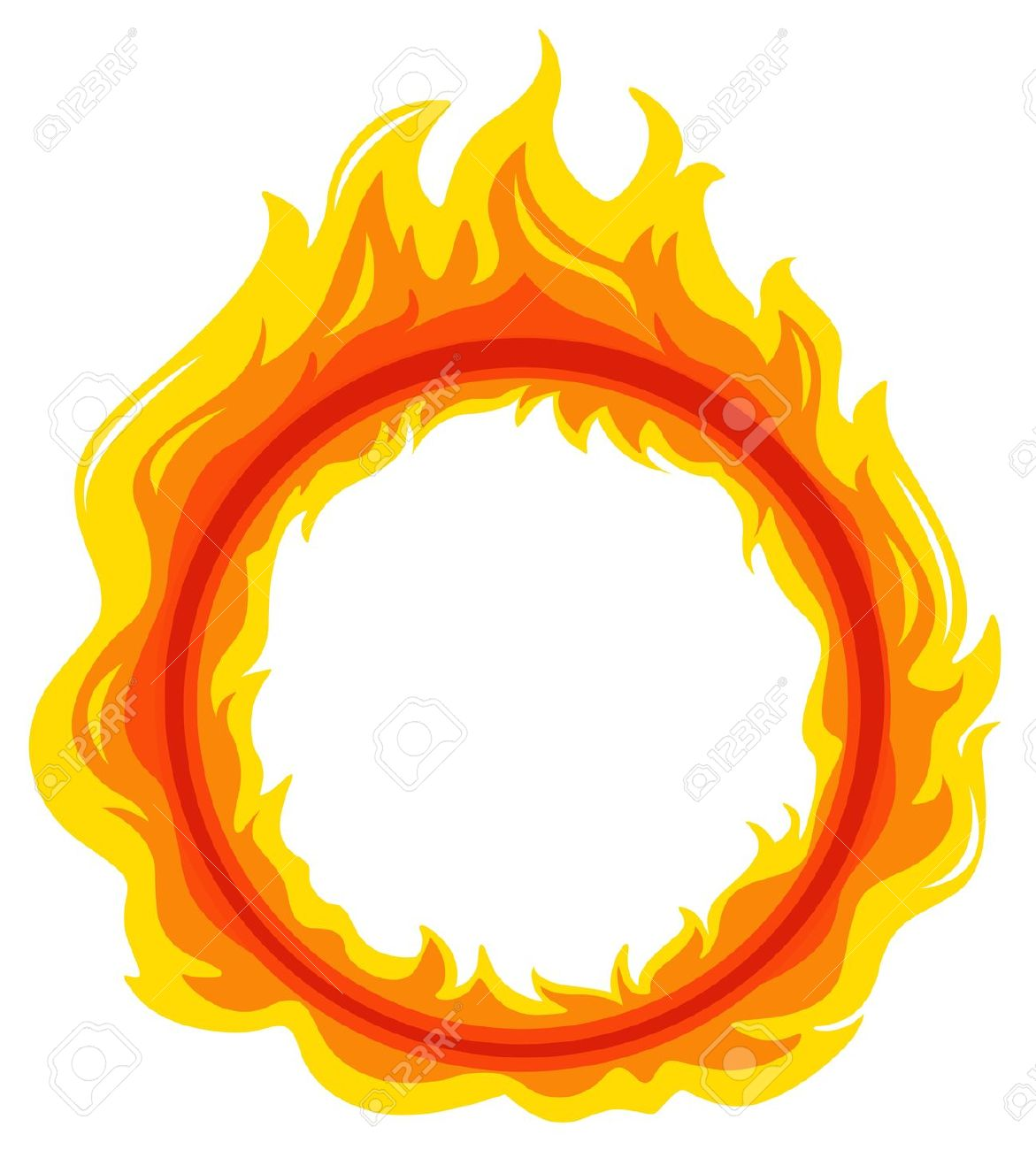 Illustration Of A Fireball On A White Background Royalty Free.