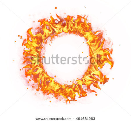 Fire Circle Stock Photos, Royalty.