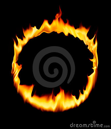 Fire Circle Royalty Free Stock Image.