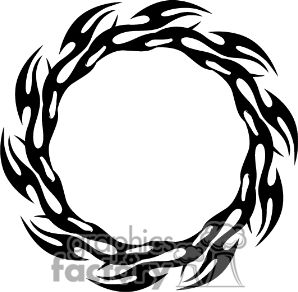 tribal circle flame tattoos.