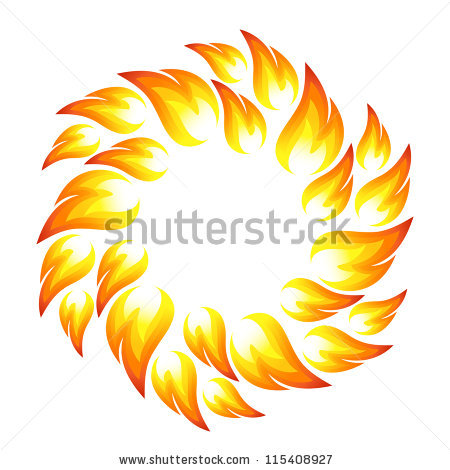 Fire Flame Set Stock Photos, Royalty.