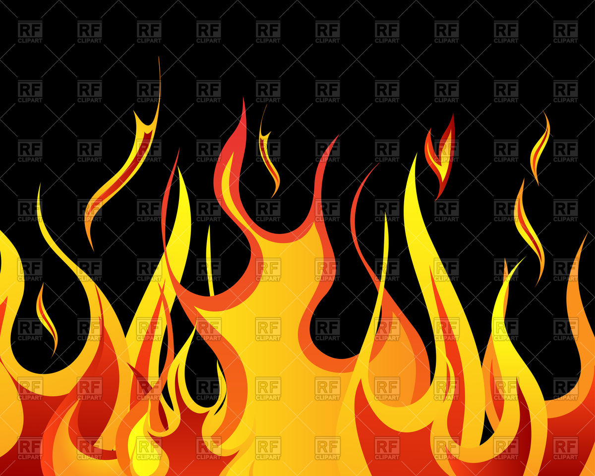 Fire Clipart Black Background.