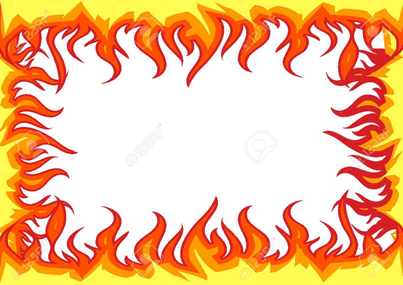 Fire Flames border.