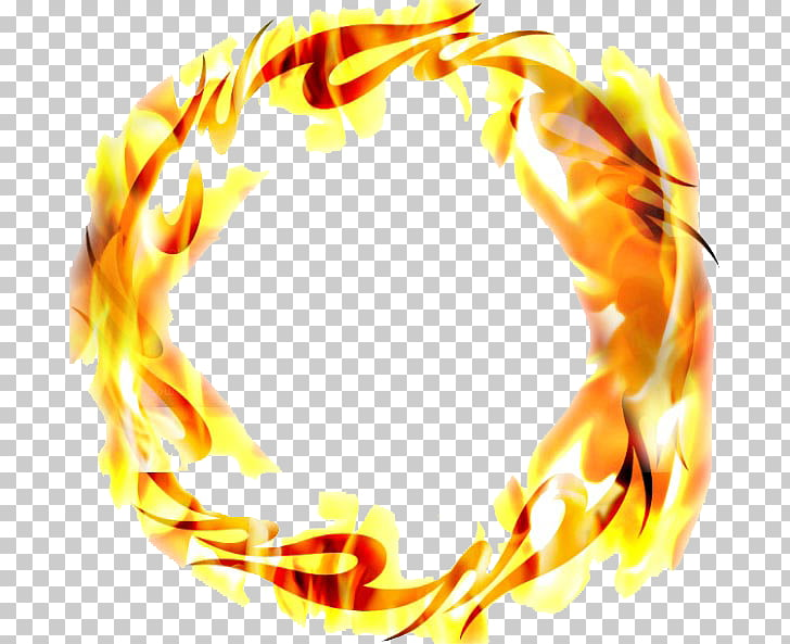 Ring of Fire Flame, Ring of fire effect, round orange flame.