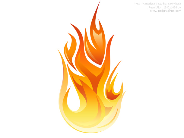 PSD flame icon.