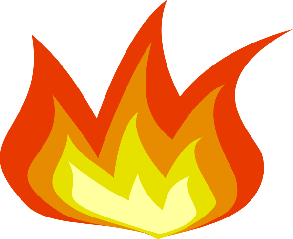 Simple Flames Border Transparent Background.