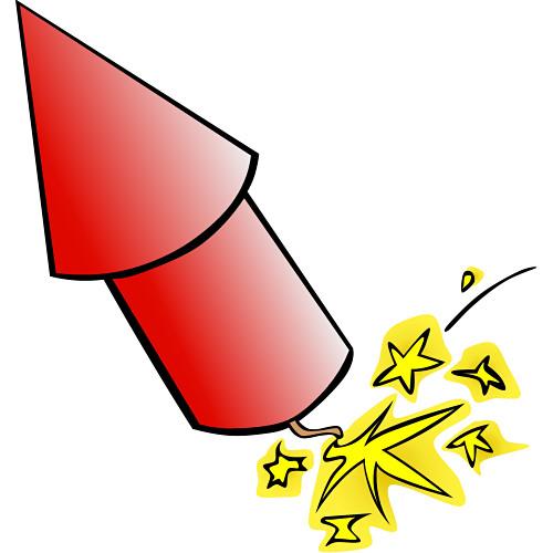 Cartoon Firecracker.