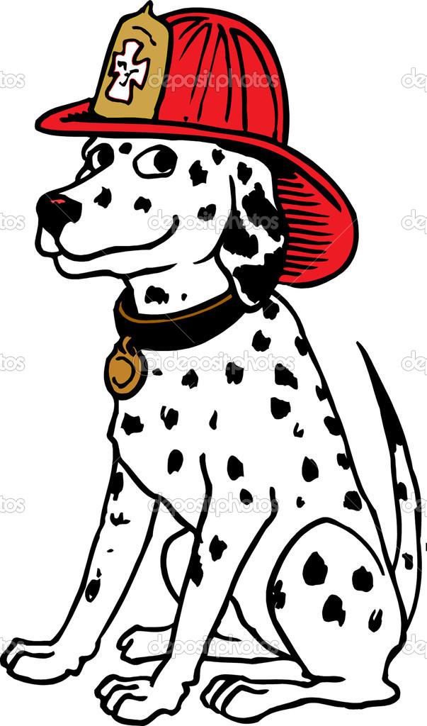 Firefighter Dog Clipart.