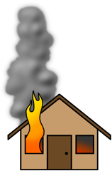 Fire home clipart.