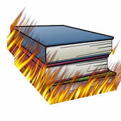 Damaged book clipart.