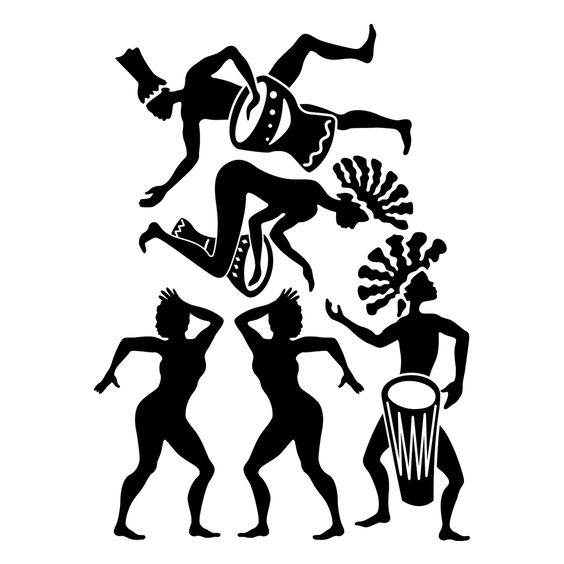 African Dancer Silhouette.