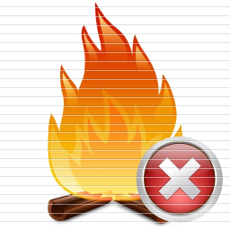 Fire Delete Icons.