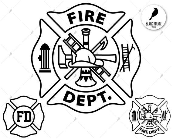 Fire dept svg, firefighter svg, fire department svg, FD svg.