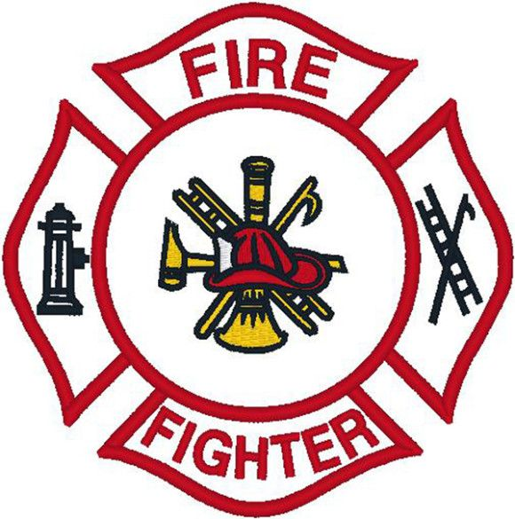 Fire Department Badge Clipart.
