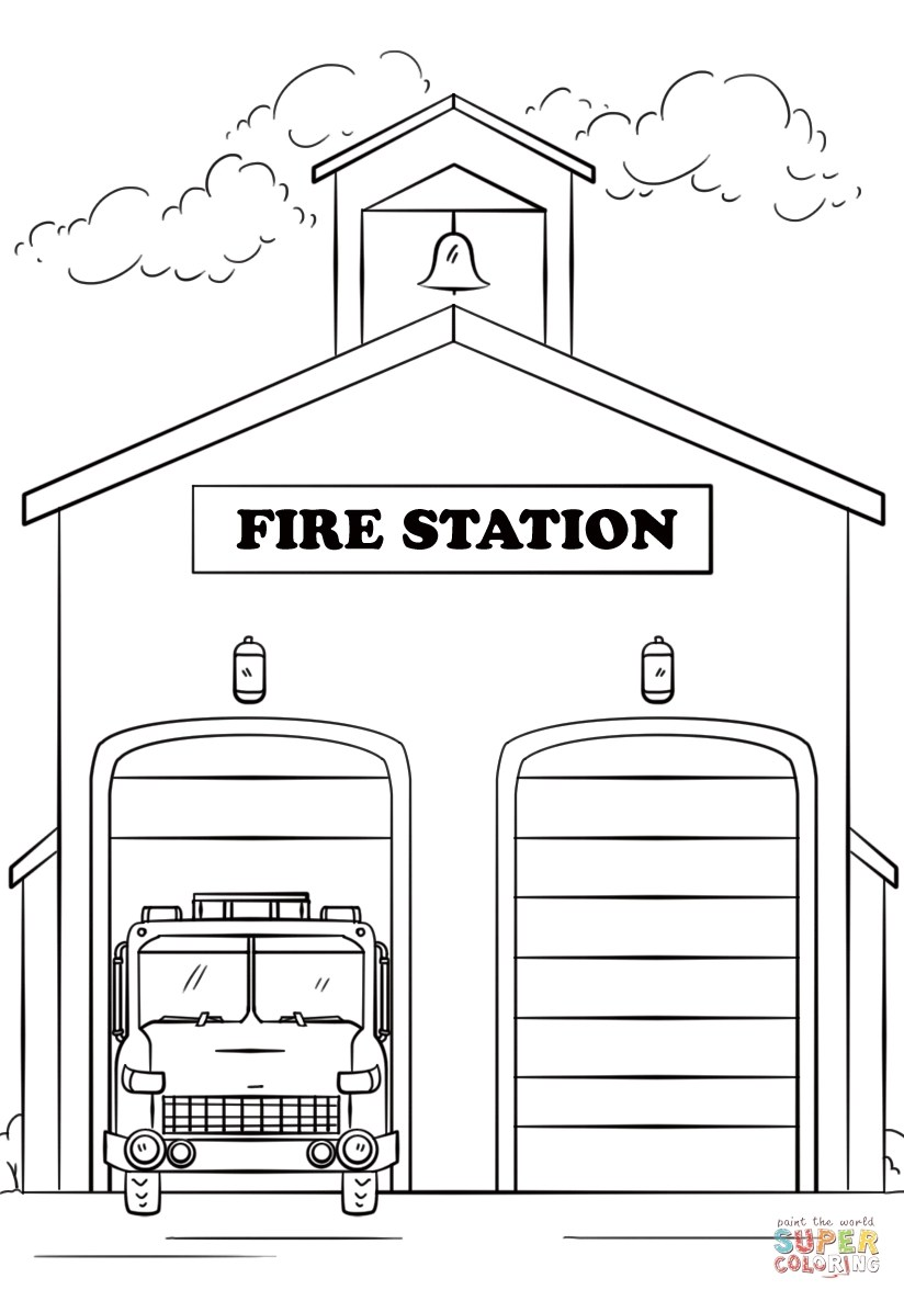 Fire Department Clipart Black And White.