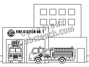 Fire station clipart black and white 3 » Clipart Station.