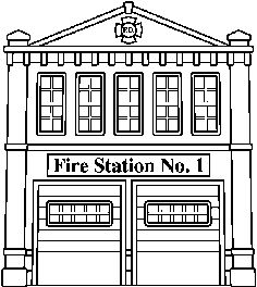 Fire station clipart black and white 4 » Clipart Station.