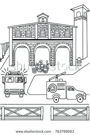 Fire station clipart black and white 3 » Clipart Portal.