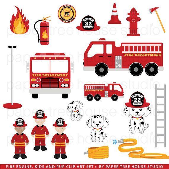 Fire Truck Clip Art. Firefighters. Fire Station Clip Art. Fire.