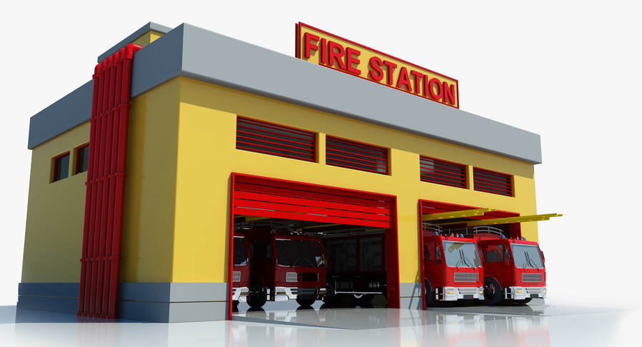 Download fire station clipart Clip art Fire station.