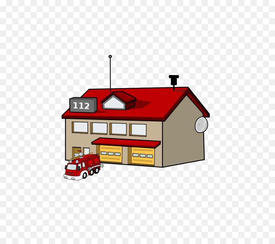 Fire station Fire department Fire engine Clip art.