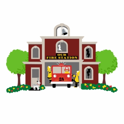 fire station , Free clipart download.