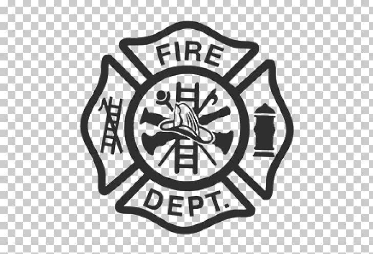 Fire Department Maltese Cross Firefighter Sticker PNG.