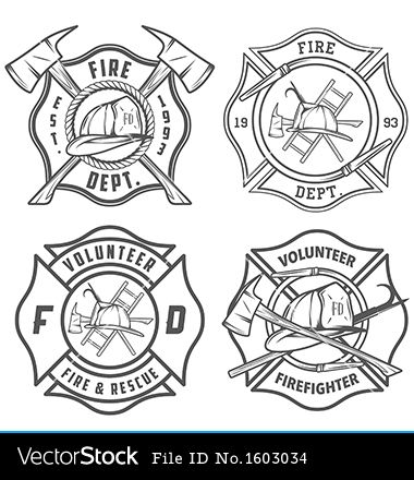 fire station logo vector.