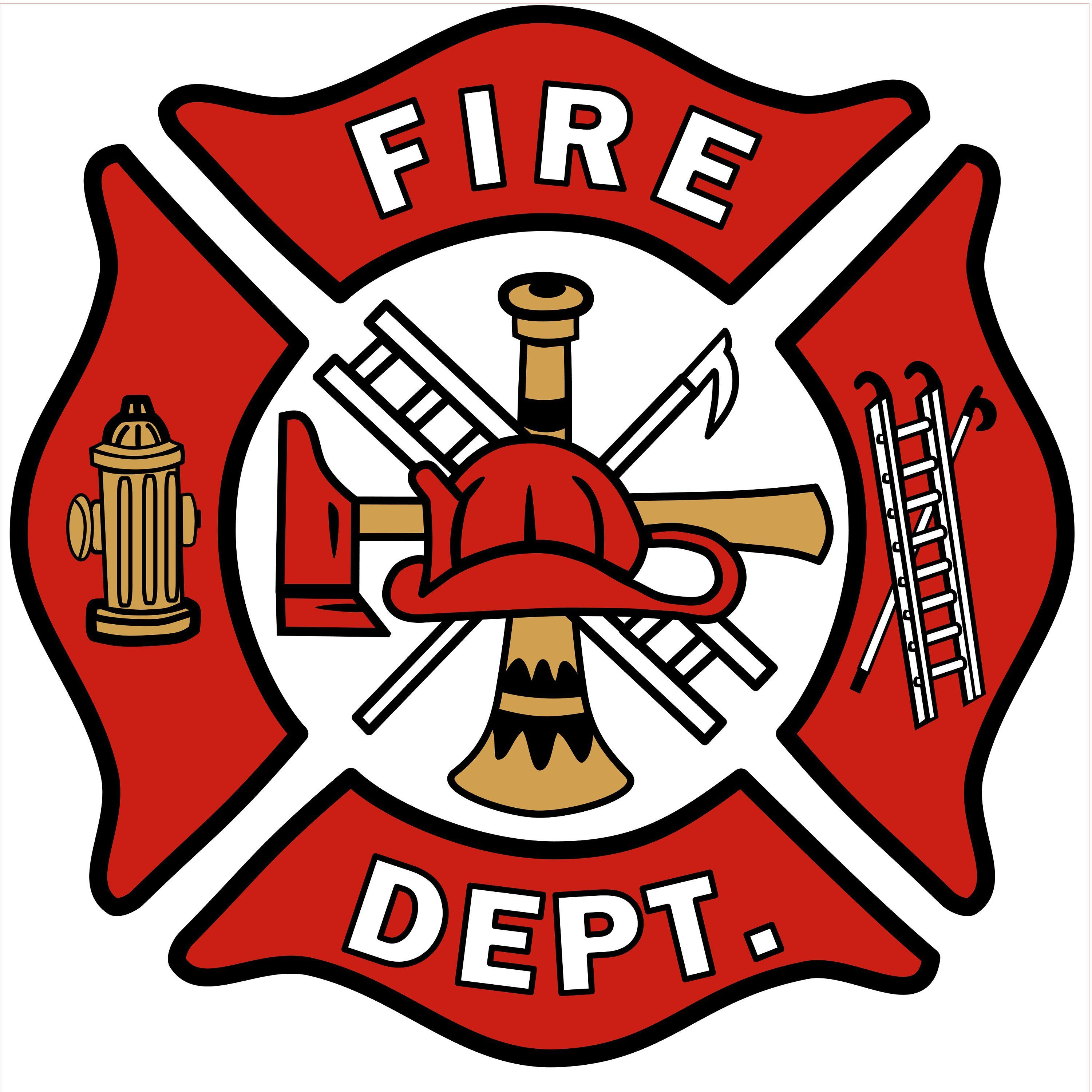 fire station logo vector.