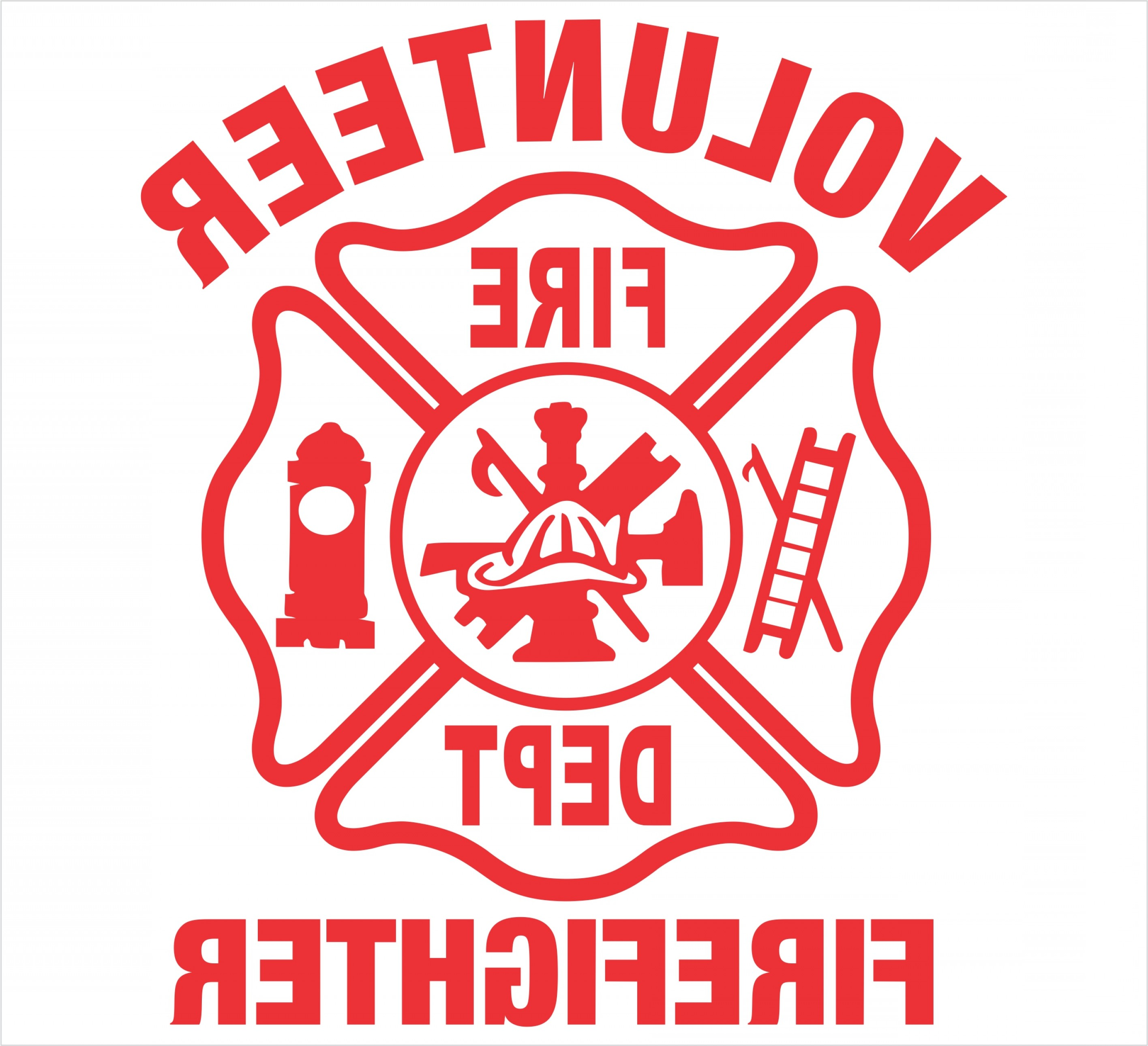 Free Fire Department Maltese Cross Clipart.