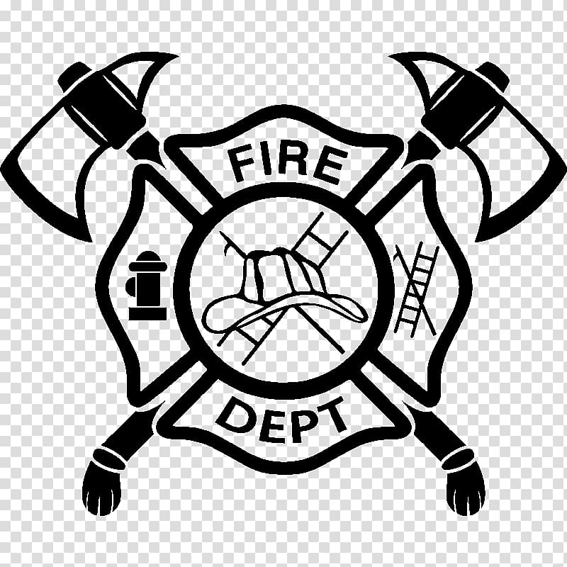 Fire Department logo, Firefighter Fire department Maltese cross.