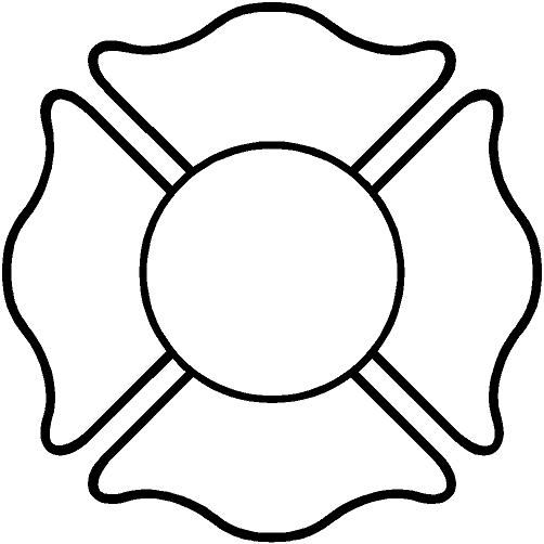 Fire maltese cross clip art; Firefighter Cross Clipart.
