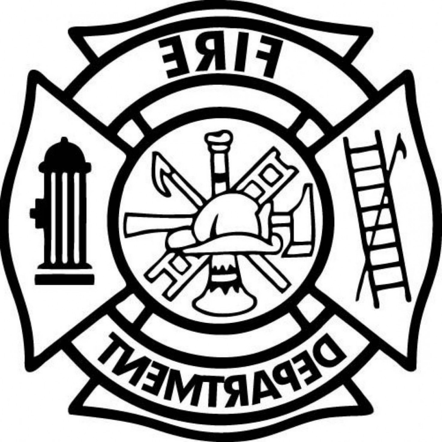 Best Free Fire Department Maltese Cross Clip Art Library.