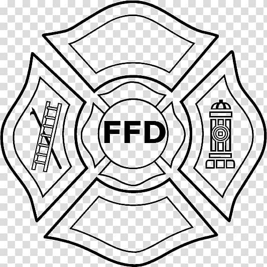 FFD logo , Maltese cross Fire department Firefighter.