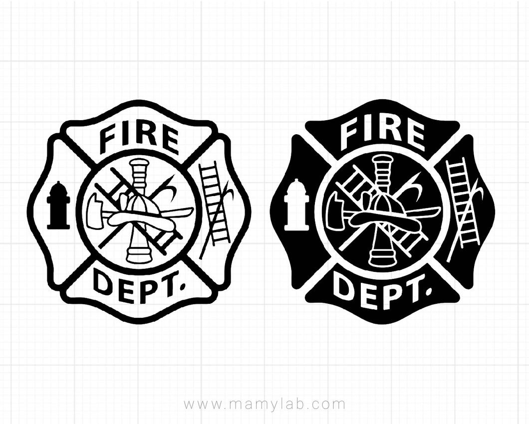 Fire department svg, fire dept svg, maltese cross svg, firefighter svg,  Sillhouette, cricut, clipart cut files.
