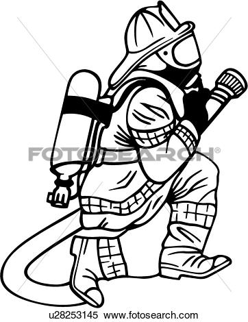 Clipart of , department, emergency, emergency services, fighter.