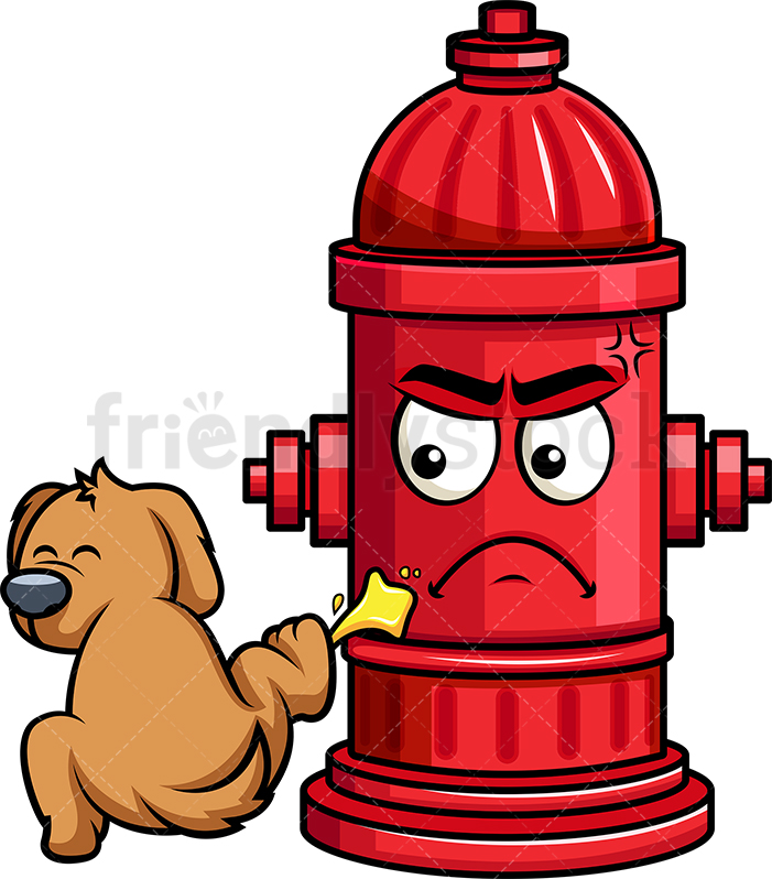Dog Pissing On Fire Hydrant Emoji.