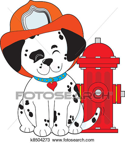 Dalmation Fire Dog Clipart.