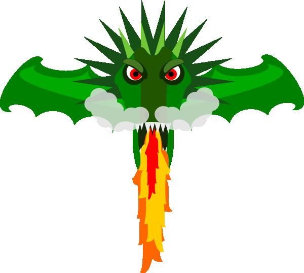 Fire Breathing Dragon Clip Art at Clker.com.