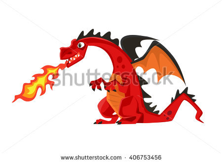 Dragon Fire Stock Images, Royalty.