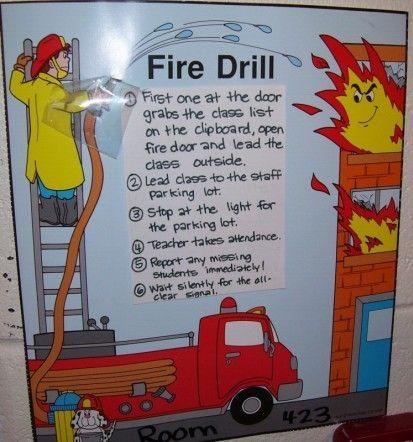 fire drill clip art.
